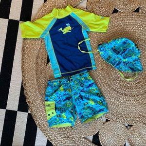 EUC 12-18 month UV Skinz swim set